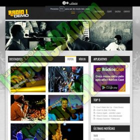 Site Para Rádio Responsivo V2