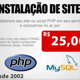 Instalação Scripts e sites
