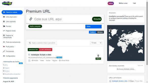 Encurtador de URL Premium v5 temas