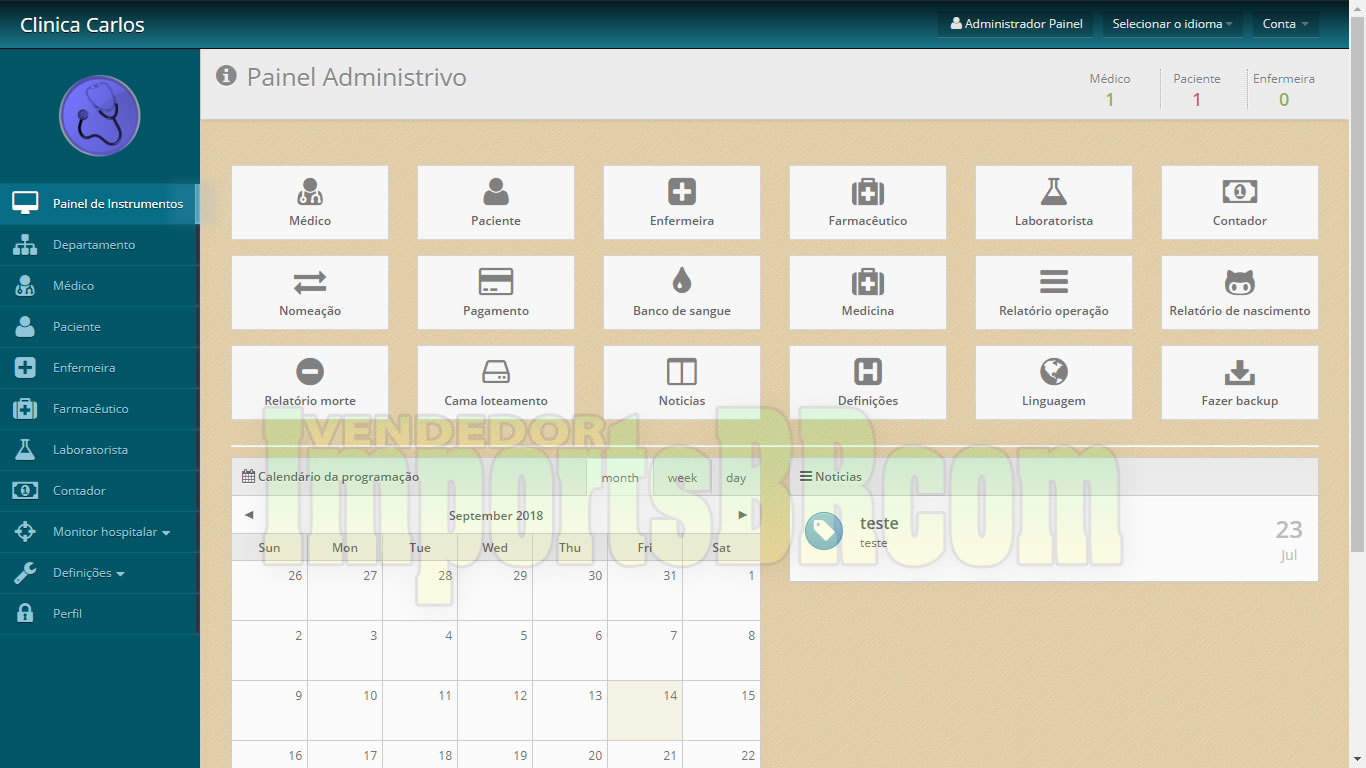 Sistema Clinica online v2019 Bayanno crm