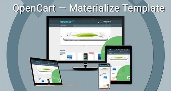 Materializar Template 2019 OPENCART 3x