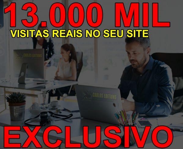 13.000 Visitas Por Mês Para Sites, Blog, Loja Virtuais.