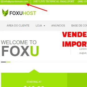 Foxuhosttop1 - Web Hosting, Template whmcs 7x