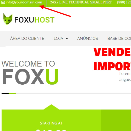 Foxuhosttop1 - Web Hosting, Template whmcs 7x