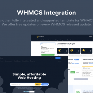 Hustbee - Hosting  WHMCS Template