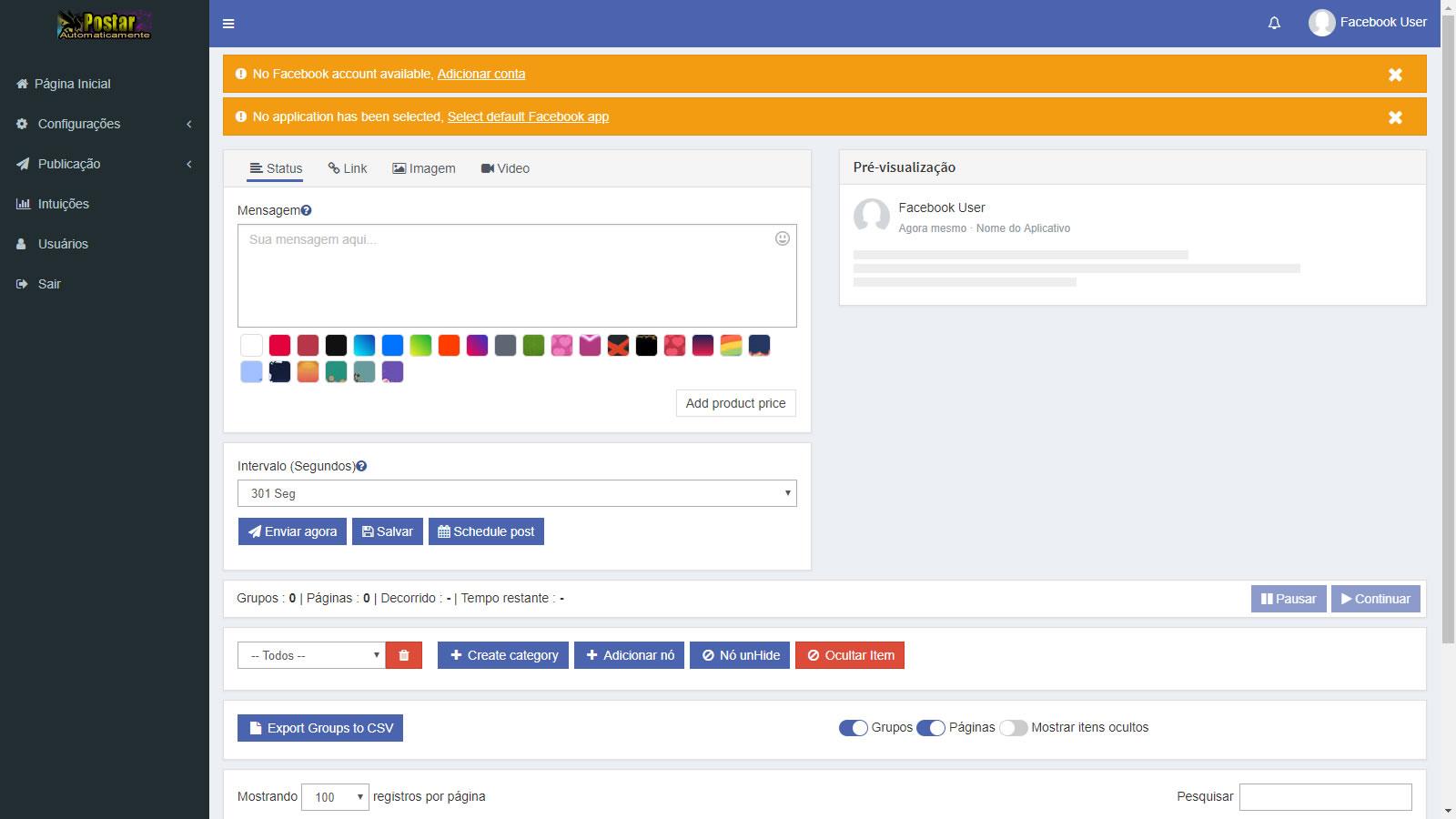 Postador Automático Grupos Facebook Em Php Online