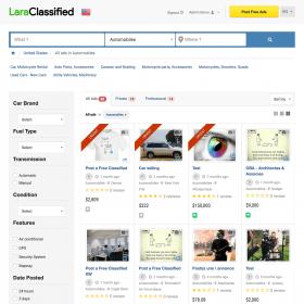 Classificados de anúncios Lara - Aplicativo da Web