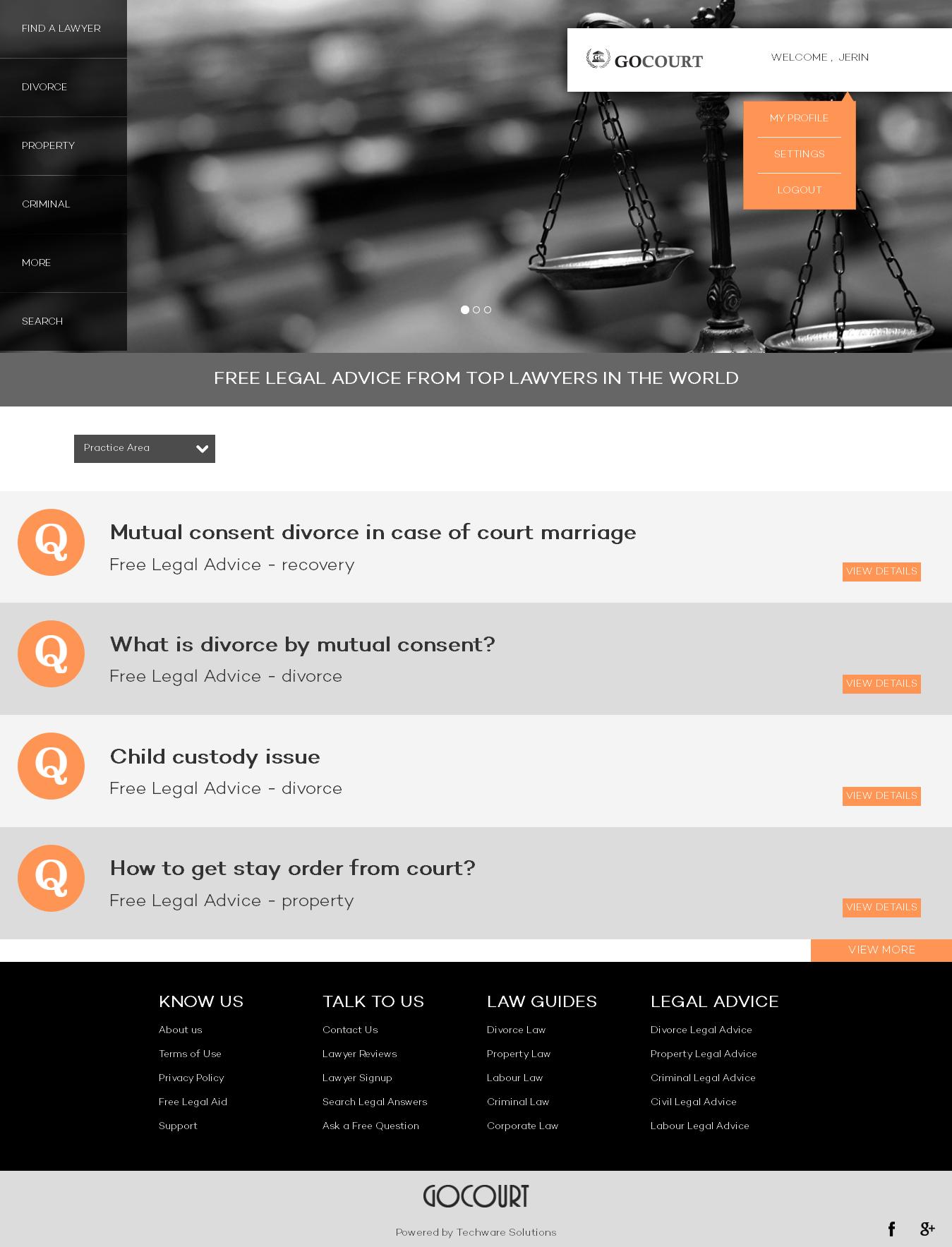 Sistema Advogado - Escritório advocacia - Soluções de reserva de advogado on-line - GOCOURT
