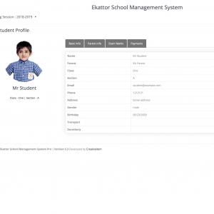 Sistema Escola - Ekattor School Management System Pro