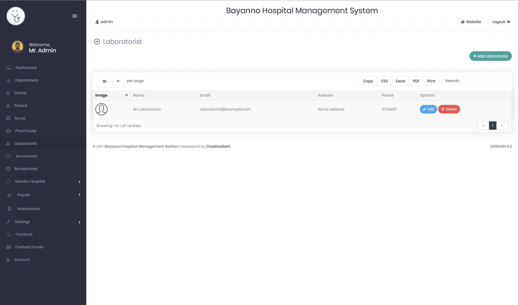 Sistema Hospital - Bayanno Hospital Management System