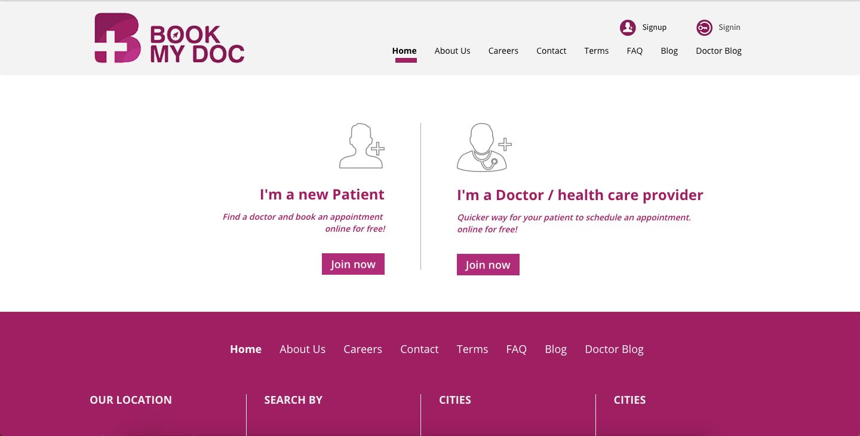Sistema Hospital - Sistema de reservas de consultas médicas on-line - Reserve meu médico