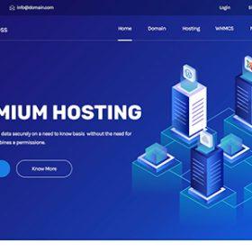 Hostinza - Domínio Isométrico & Whmcs Web Hosting WordPress Theme