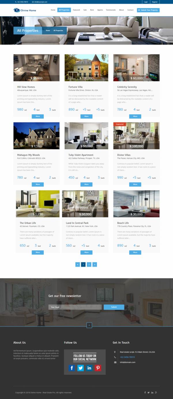 Agencia Imobiliária - Portal de Imóveis Domésticos Divino Pro