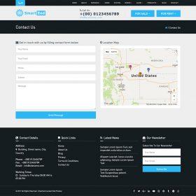 Agencia imobiliária - Modelo de frontend para multiuso e imobiliário Script