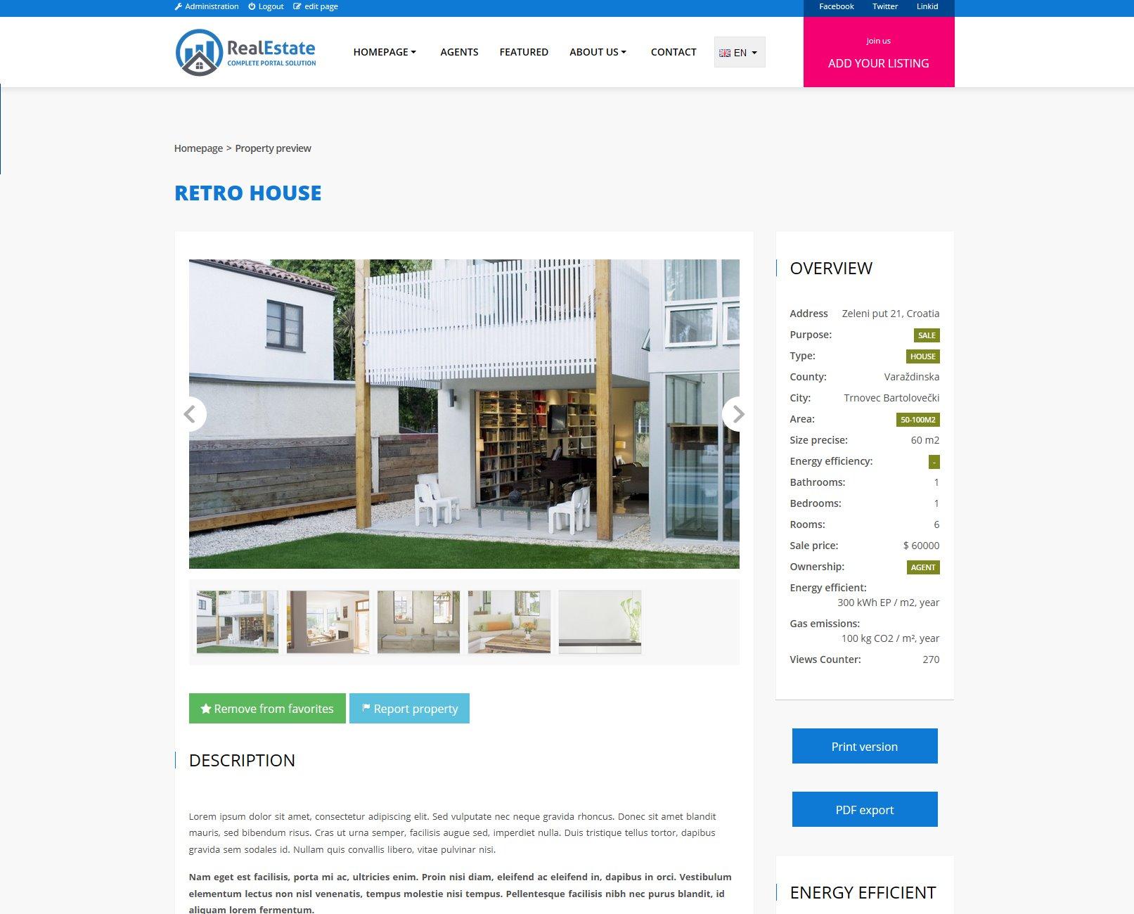 Agencia Imobiliária - Portal Geo Script