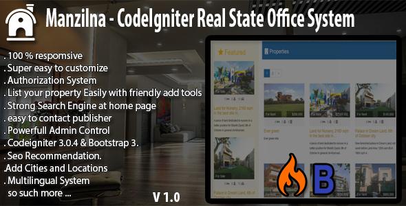 Agencia Imobiliária - Manzilna - Sistema Imobiliário CodeIgniter