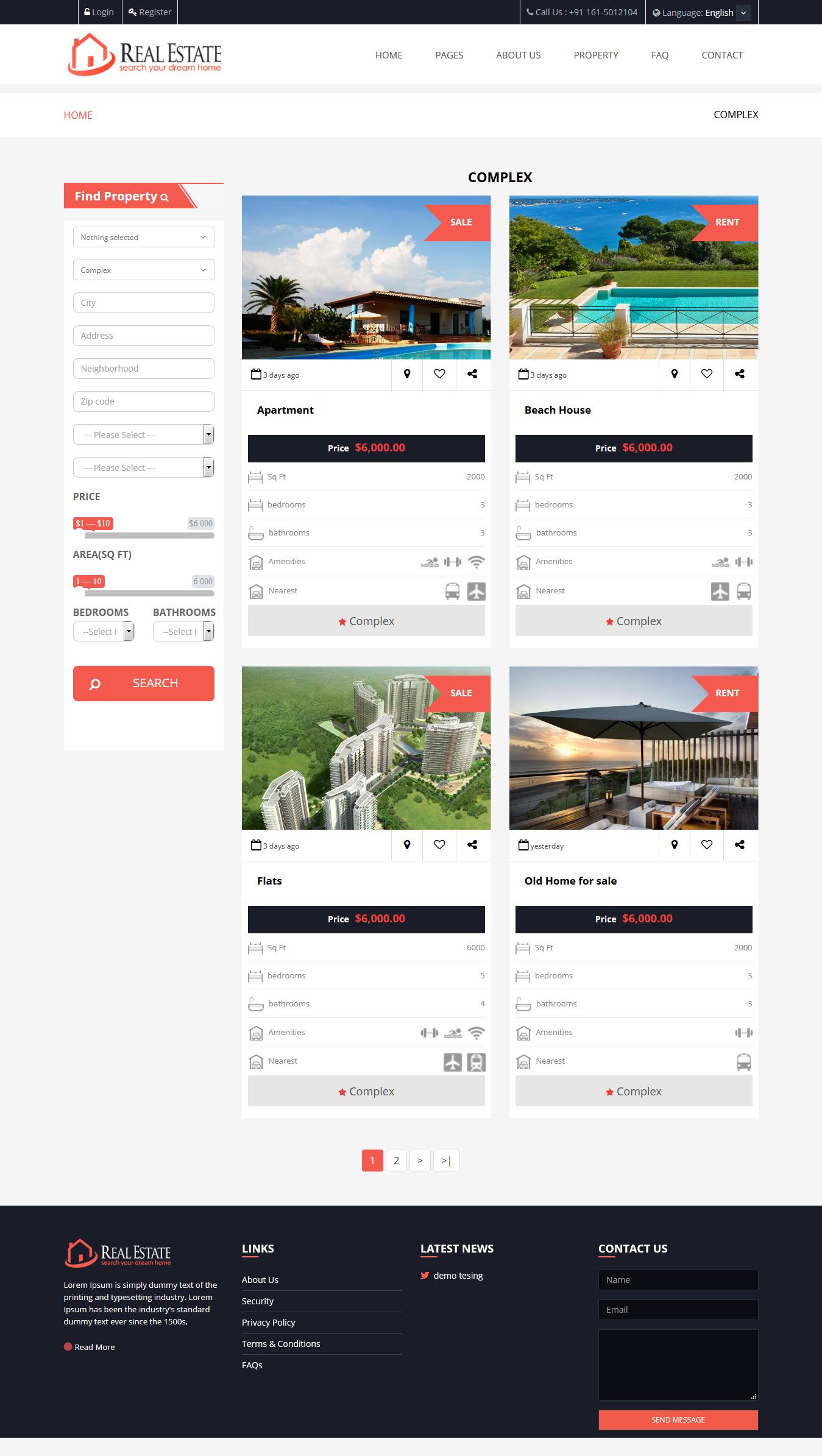 Agencia Imobiliária - Script personalizado de imóveis