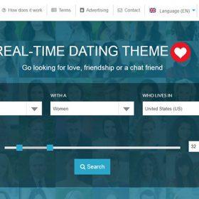 Site namoro - Tema de site de namoro em tempo real + CMS