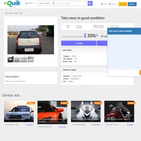 Classificados de anúncios - Totalmente carregados CMS - Quik new V 1.3