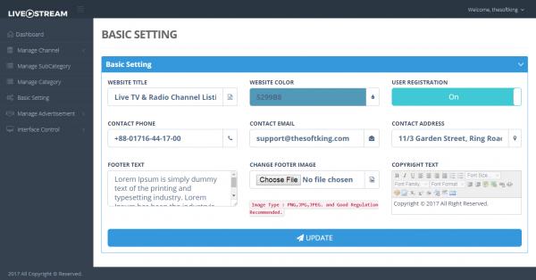 Script Radio - LetsPlay - Streaming de TV ao vivo e listagem de canais de rádio