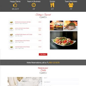 Script Restaurante - Restaurante Responsivo Drag & Drop Website Builder