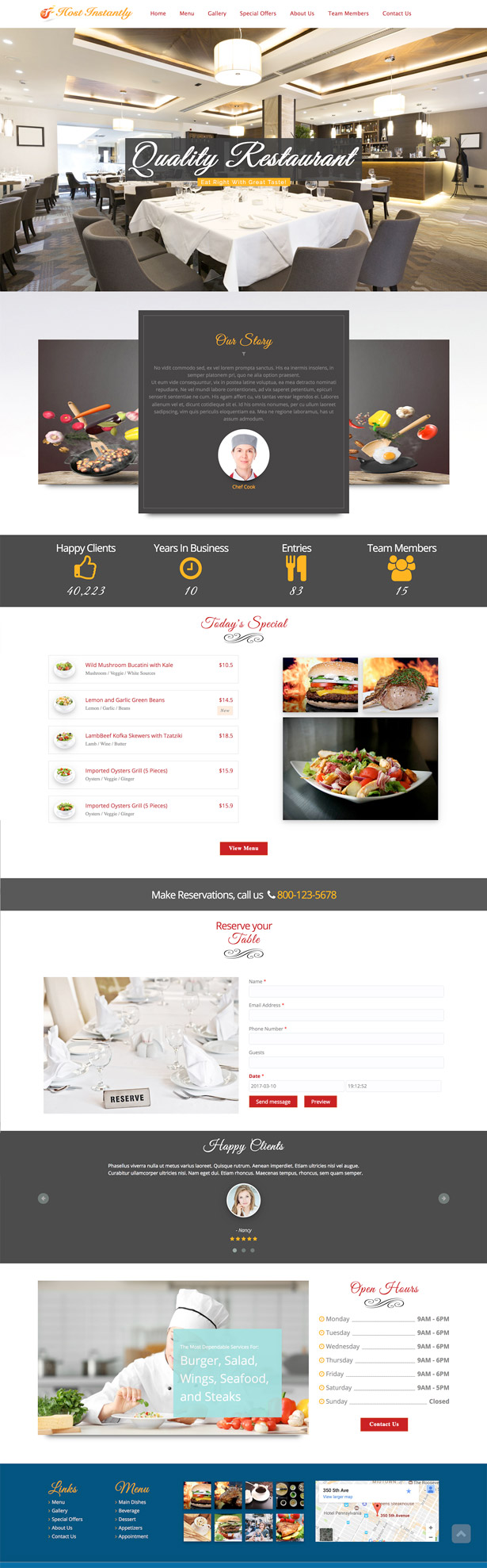 Script Restaurante - Restaurante Responsivo Drag & Drop Website Builder