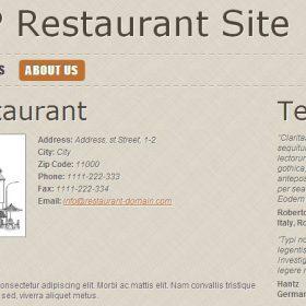 Script Restaurante - Menu de restaurante PHP e site de reserva