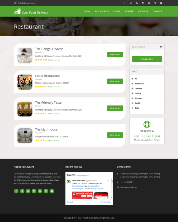 Script Restaurante - Viavi - Script de Entrega de Comida