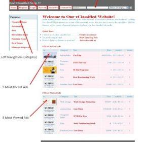Classificados de anúncios -  PHP / MySql xClassified Script